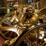 A replica of England's Gold Stage Coach which in in the lobby of the hotel.