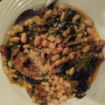 Greens and beans with sausage. Great flavor