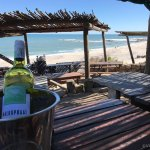Cold wine and beach