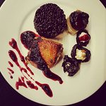 Burgundy duck with imperatorial rice