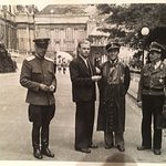 My grandfather, his friend and Austrian policeman in 1946