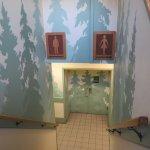 Convenient washrooms downstairs