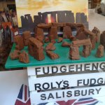 Roley'S Fudge Shop with a fudge Stonehenge - the real thing is not too far away!!