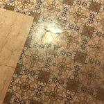 Uncleaned bathroom floor