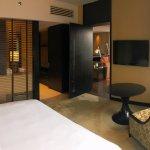 King Panoramic River Suite - king bedroom