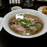P3 rare beef & well done flank rice noodle soup - P3 pho