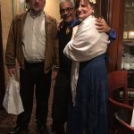 Antonio from LaScala in the middle; most wonderful anniversary ever!