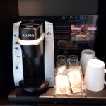 Coffee bar in the hotel room At Hotel St. Paul, Montreal @DownshiftingPRO