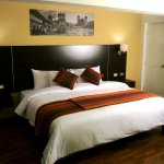 Habitación con cama matrimonial, wifi, televisor pantalla plana, calefacción, baño, agua calient