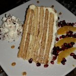 Russian Feast (3rd course) - six layer honey cake.