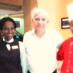 The chef and restaurant staff ensure that friendly service go along good meals