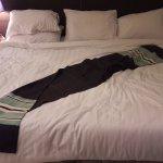 My bed was comfortable adn welcoming in a quiet room