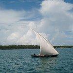 On the way to Bongoyo Island