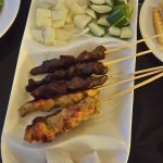 beef & chicken satay up close!