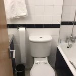 Small bathroom may be problem for bigger adults