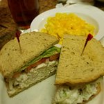 Chicken Salad Sandwich with side of Mac and Cheese