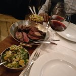 Chateaubriand for 2, showing rare slices