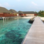 The resort's over-water restaurant