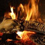 Canetton cuit à la broche (sur place)