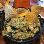 Tableside guacamole!!  Delicious!!