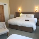 Superking bed in the triple en suite room