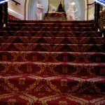 This is a very Grand stair entrance to and from the rooms