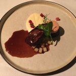 Grouse with black pudding and foie gras
