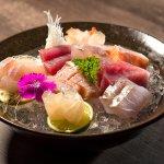 MORIAWASE TSUKURI - Seleção de Sashimis do Chef. Simplesmente fantástico.