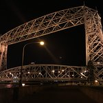Night view of the Aerial Lift Bridge