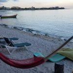 Hammock and chairs at the beach