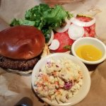 Original burger with cole slaw