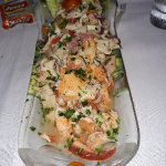 Maine lobster, crab & octopus caviche..... Delicious!!!  Had the mushrooms masala too.  Service