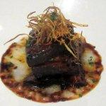 kakuni ten hour pork belly, rice congee, soy-scallion jus, Morimoto, Napa, CA