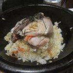 shi yaki buri bop yellowtail on rice cooked at your table in a hot stone bowl, Morimoto, Napa, C