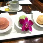 Three Flavor Sorbet with Berries, Morimoto, Napa, CA