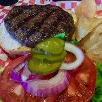 1/2 pound char grilled burger