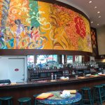 The bar at Jaleo is trendy and colorful.