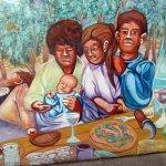 Mural, Gundlach Bundschau Winery, Sonoma, Ca