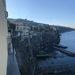 Best views in Sorrento, with Vesuvius in the distance; grand reception; the view from our (obvio