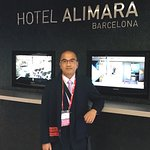 Reception Desk at Hotel Alimara, Barcelona
