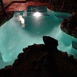 Hemingway suite private pool at night