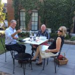 We decided to enjoy the lovely weather and chose this terrace for our evening meal. We shared wi