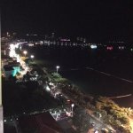View from executive lounge at night - Gulf of Thailand and Pattaya