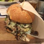 "Trufa (""Truffle) Burger -- replaced bacon with extra portion of mushrooms"