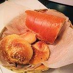 bread and garlic knots