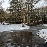 Last winter, the Ober Water opposite the hotel was surrounded by snow