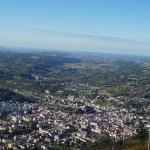 city of lourdes viws from pic du jer