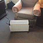 extra heater to compensate for window draught