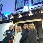 The girls outside the Prince Rupert