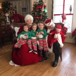 The grandkids loved meeting Santa and Mrs Claus at breakfast!